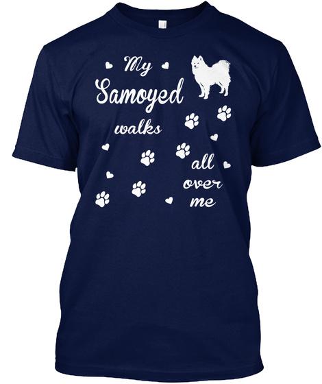 Samoyed Navy T-Shirt Front