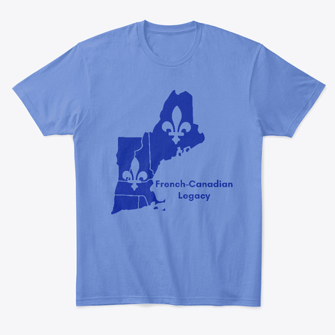 French Canadian Legacy Merch Heathered Royal  T-Shirt Front