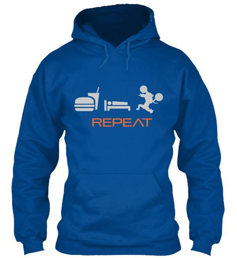 Repeat Royal T-Shirt Front