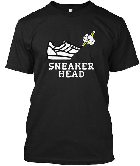 Sneaker Head Black T-Shirt Front