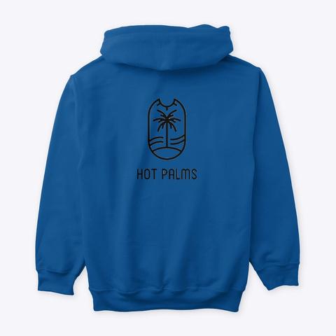 Hot Palms Logo Hoodie Royal T-Shirt Back