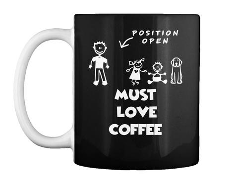 Position Open Woman Missing Mug Black Mug Front