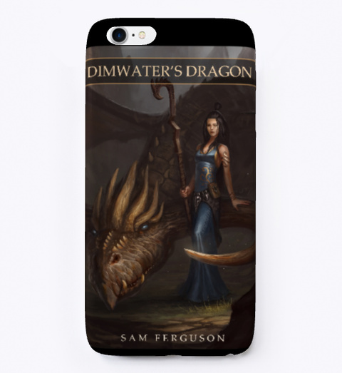 Dimwater's Dragon Black T-Shirt Front