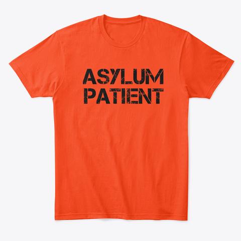Asylum Patient Halloween Costume Deep Orange  T-Shirt Front