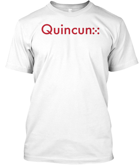 Red Quincunx White T-Shirt Front