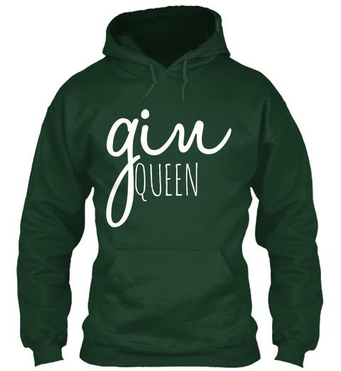 Gin Queen Forest Green T-Shirt Front