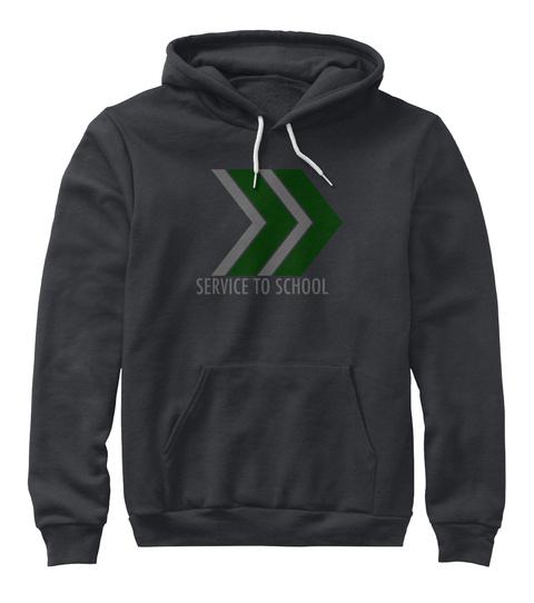 Service To School  Dark Heather Grey T-Shirt Front