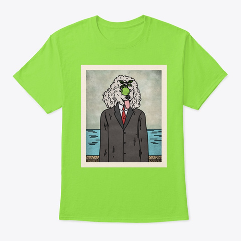 The Son Of Man Poodle Dog Lime T-Shirt Front
