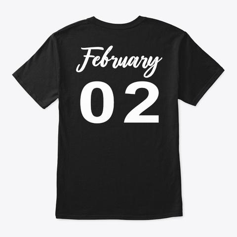 February 2   Aquarius Black T-Shirt Back