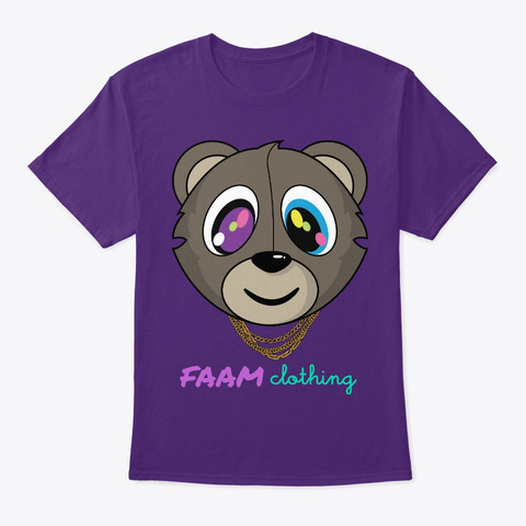 Faam Bear It All 1 Purple T-Shirt Front
