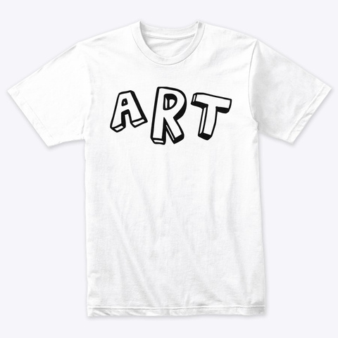 A R T  Heather White T-Shirt Front
