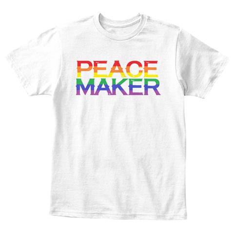 Peace Maker   Kids Shirts White T-Shirt Front