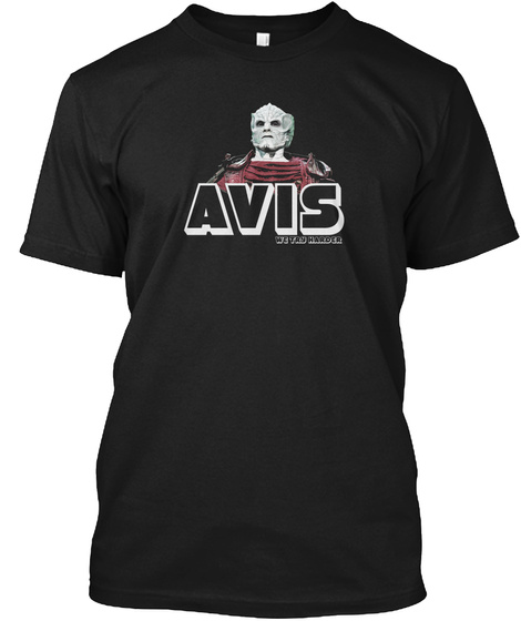 Avis We Try Wander Black T-Shirt Front