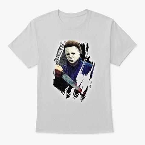 Michael Myers Halloween 2018 Light Steel T-Shirt Front