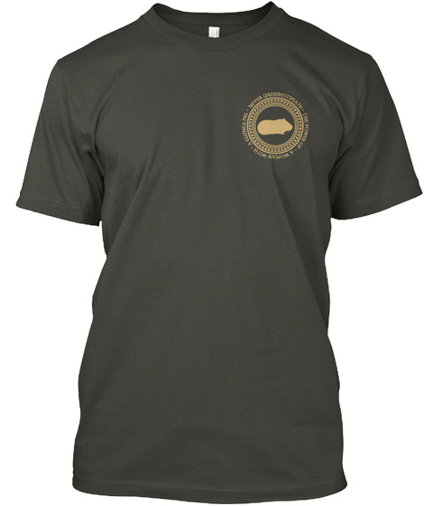 Woman With A Guinea Pig Smoke Gray T-Shirt Front