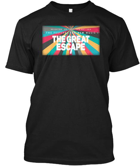2018 The Great Escape Festival T Shirts Black T-Shirt Front