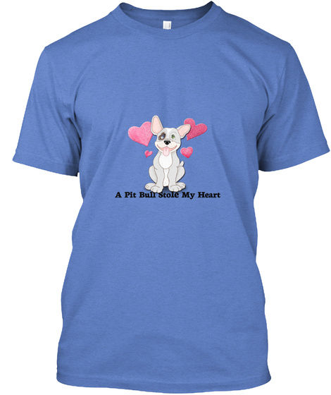 Critter Kin   A Pit Bull Stole Heathered Royal  T-Shirt Front