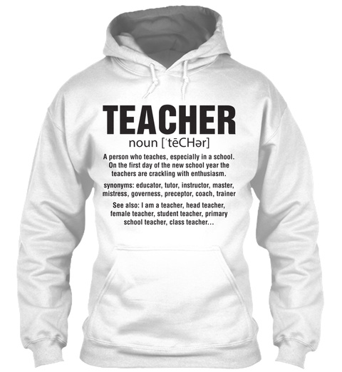 Super Teacher T Shirt   Hoodie White T-Shirt Front