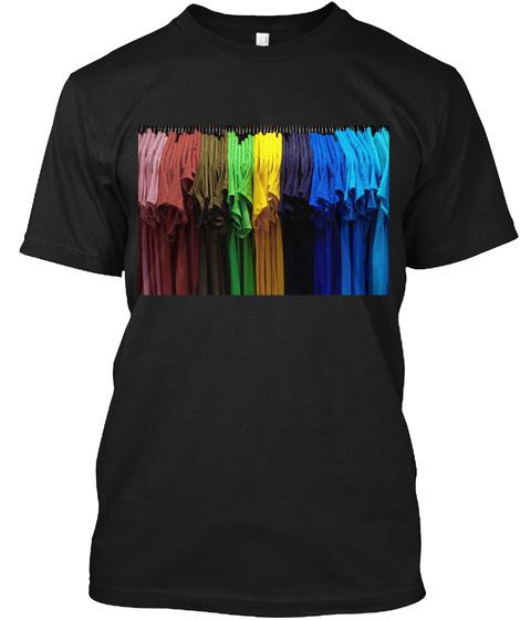 True Color T Shirt Black T-Shirt Front