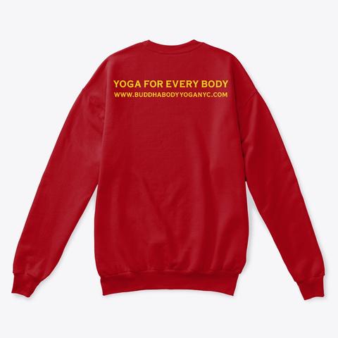 Buddha Body Yoga Logo Tees Deep Red  T-Shirt Back