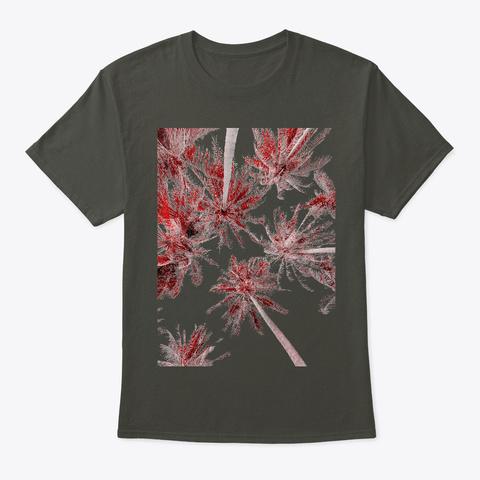 Palm Trees Smoke Gray T-Shirt Front