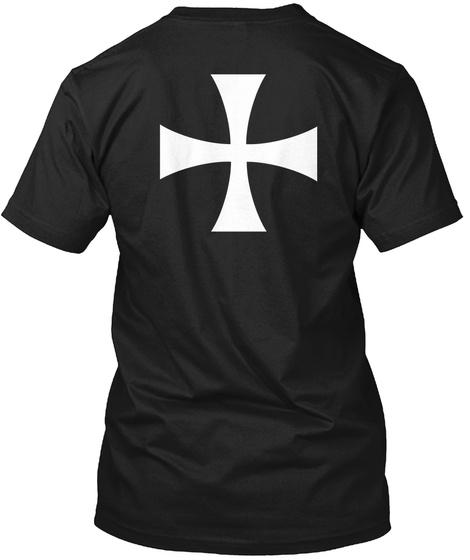 Knights Hospitaller Cross Black T-Shirt Back