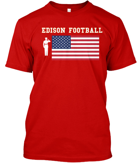 Edison Football Classic Red T-Shirt Front