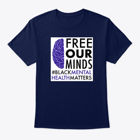 Official  Free Our Minds Campaign Navy T-Shirt Front