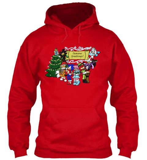 Seasons Greetings Red Sweatshirt Front