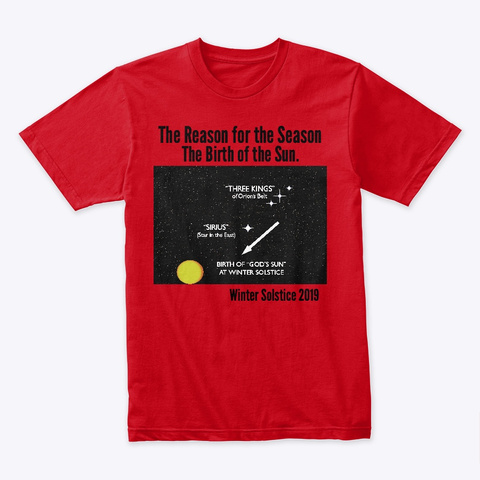 The Reason For The Season Red T-Shirt Front