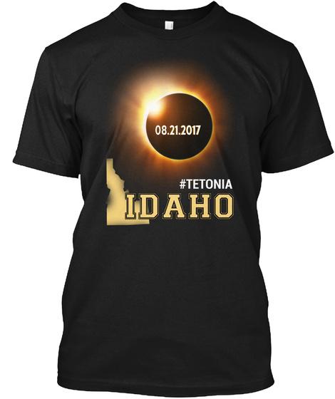 Eclipse Tetonia Id. Customizable City Black T-Shirt Front