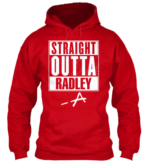 Straight Outta Radley  A Red T-Shirt Front