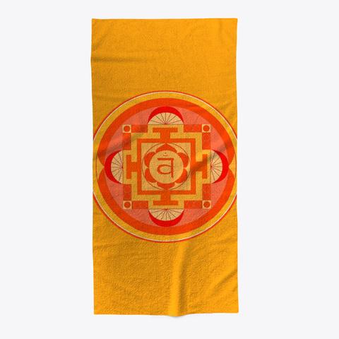 Sacral Chakra Swadhisthana Beach Towel Orange T-Shirt Front