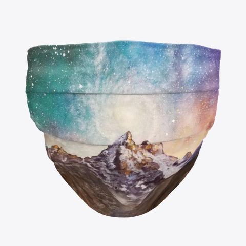 Galaxy Mountain Mask Standard T-Shirt Front
