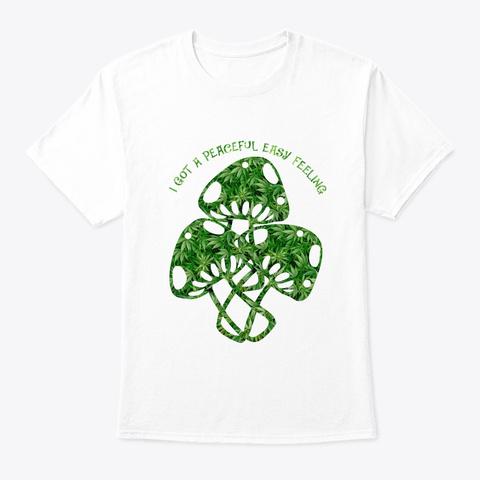 Flower Children Peaceful Hippie Costume White T-Shirt Front