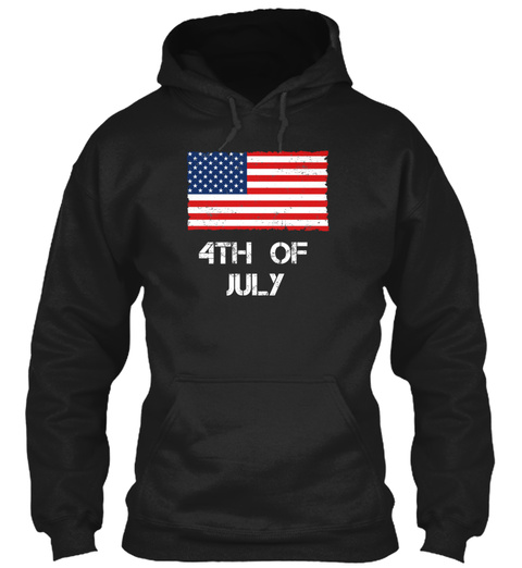 Independence Day Flag Used Look Black Sweatshirt Front