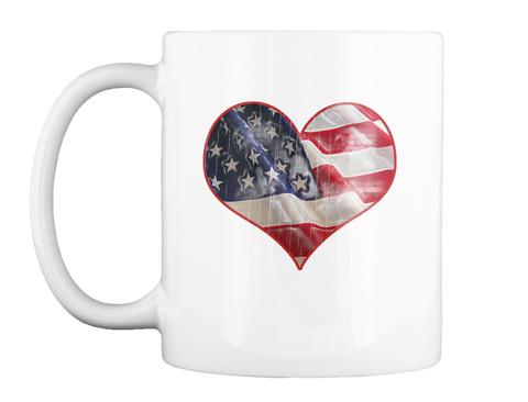 I Love The Usa Coffee Mug White T-Shirt Front