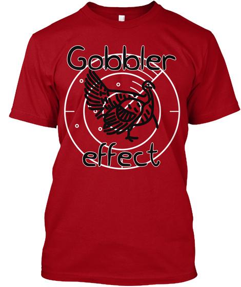 Gobbler Effect Deep Red T-Shirt Front