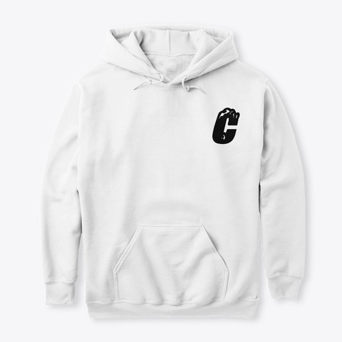 """The """"C"""" White T-Shirt Front"""