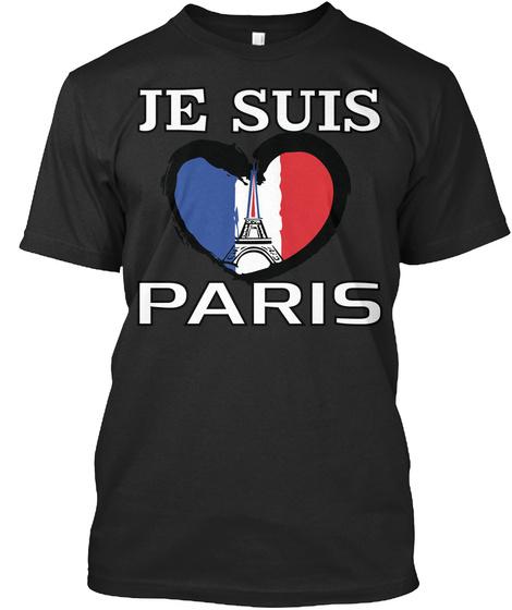Je Suis Paris Black T-Shirt Front