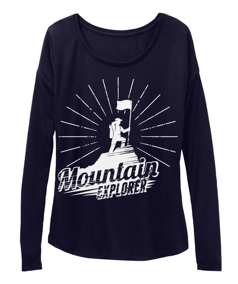 Mountain Explorer Long Sleeve Midnight T-Shirt Front