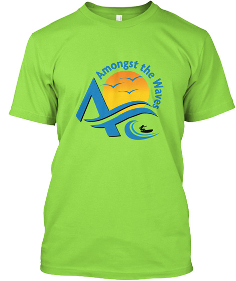 Amongst The Waves A Lime T-Shirt Front