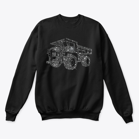 Truck Driver Christmas Black T-Shirt Front