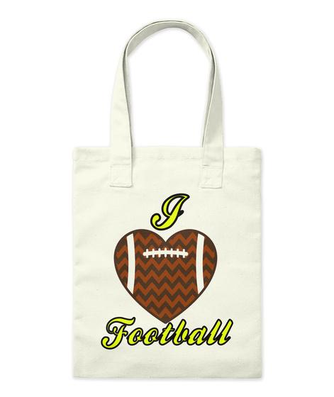 I Football Natural T-Shirt Front