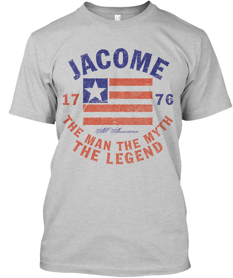 Jacome American Man Myth Legend Light Steel T-Shirt Front