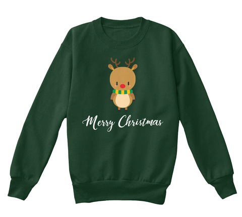 Lovely Christmas Kid's Sweatshirt  Deep Forest  T-Shirt Front