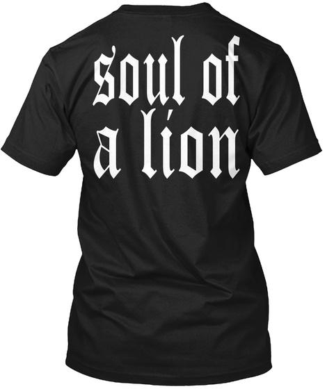 Soul Of A Lion Black T-Shirt Back