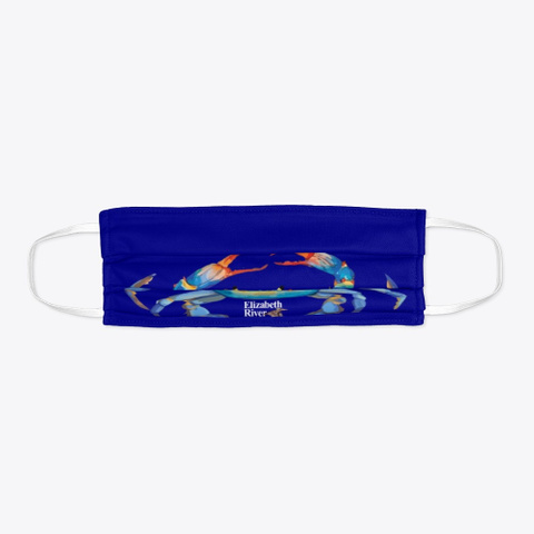 Crab Mask For Elizabeth River Project Deep Navy T-Shirt Flat