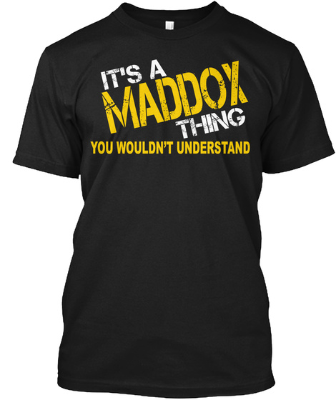 Maddox Thing [Limited Time Sale] Black T-Shirt Front