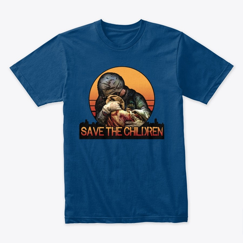 Save The Children Cool Blue T-Shirt Front